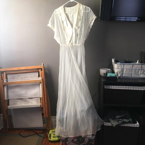 Intimates & Sleepwear | Costume Novelty Vintage Sheer Dressing Gown ...
